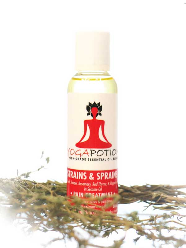Strains Sprains massage oil, natural health, massage oil, essential oil for sore muscles